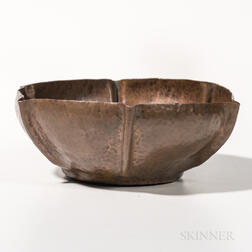 Early Dirk Van Erp Copper Bowl