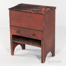 Small Red-painted Standing Desk
