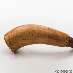 Daniel Barns's Siege of Boston Powder Horn