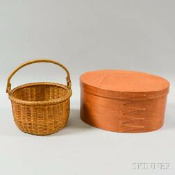 Shaker-style Finger-lapped Pantry Box and a Nantucket Swing-handled Basket