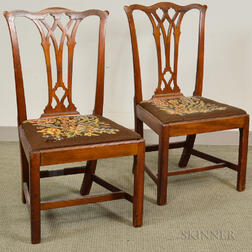 Pair of Chippendale Mahogany Side Chairs