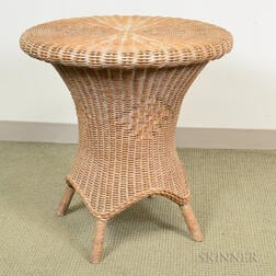 Wicker Round-top Table