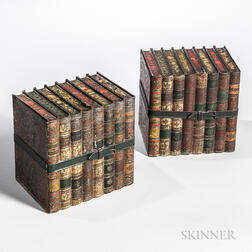 Pair of Tin Biscuit Book-form Boxes