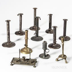 Ten Lighting Devices and an Inkstand