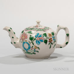 Staffordshire Salt-glazed Stoneware Teapot and Cover