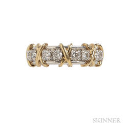 "18kt Gold, Platinum, and Diamond ""Sixteen Stone"" Ring, Schlumberger Studios, Tiffany & Co."