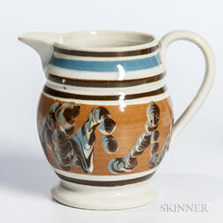 Slip- and Cable-decorated Pearlware Cream Jug