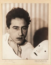 Abbott, Berenice (1898-1991) Photographic Portrait of Jean Cocteau, 1927, Signed by Abbott.