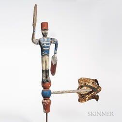 Carved and Painted Hessian Soldier Whirligig