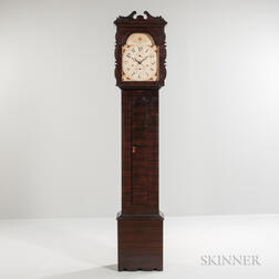 Silas Hoadley Painted Tall Case Clock
