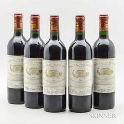 Chateau Margaux 1986, 5 bottles