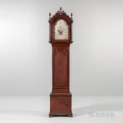Thomas Harland Figured Mahogany Tall Clock