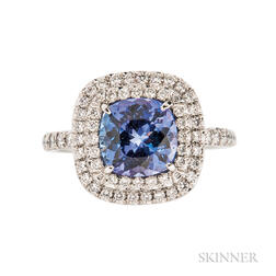 "Platinum, Tanzanite, and Diamond ""Soleste"" Ring, Tiffany & Co."