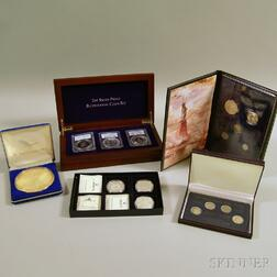Large Group of Mostly Silver Commemorative Coins