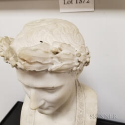 Carved Marble Bust of Napoleon