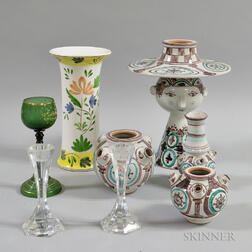 Group of Modern Pottery and Glass Tableware