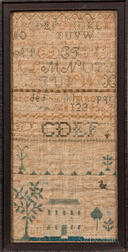 "Needlework Sampler ""Mary E. Thomas,"""