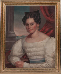 American School, Mid-19th Century      Portrait of Rebecca Edwards