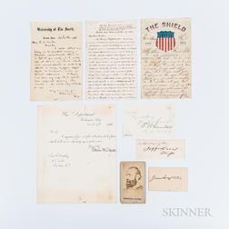 Davis, Jefferson (1808-1889), Sheridan, Philip (1831-1888), and Longstreet, James (1821-1904) Signed Cards, a Carte-de-visite of Stonew