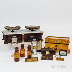 Two Scales with Weights and Early Pharmaceutical Jars