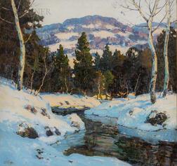 Walter Koeniger (American, 1881-1943)      River in Winter
