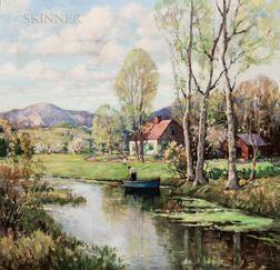 James King Bonnar (American, 1883-1961)      The Blue Rowboat