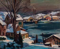 Emile Albert Gruppé (American, 1896-1978)      Out of my Studio Window