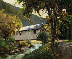 Anthony Thieme (American, 1888-1954)      Covered Bridge, Jeffersonville, Vermont