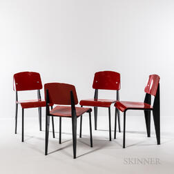 Four Jean Prouvé (French, 1901-1984) by Vitra Standard Chairs