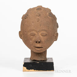 Terra-cotta Akan Memorial Head, Nsodie