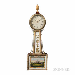 "New England Gilt-front Patent Timepiece or ""Banjo"" Clock"
