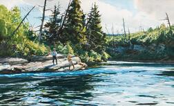 Ogden Minton Pleissner (American, 1905-1983)      Big Salmon Pool