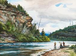 "Ogden Minton Pleissner (American, 1905-1983)      High Cliff at ""Dog Pool"""