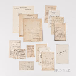 Fifteen 19th/Early 20th Century British Government/Military Figure Autographs.