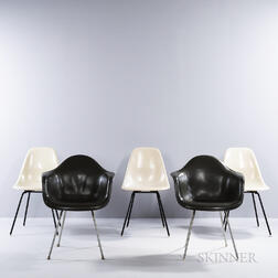Five Ray (1912-1988) and Charles Eames (1907-1978) for Herman Miller Shell Chairs