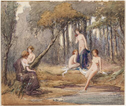 American School, 19th Century      Nymphs at a Forest Pool