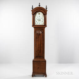 Newport Block and Shell Mahogany Tall Clock