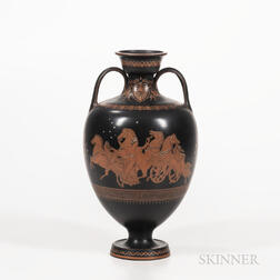 Wedgwood Encaustic Decorated Black Basalt Vase