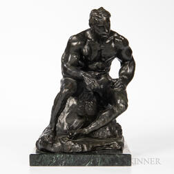 After Auguste Rodin (French, 1840-1917)      Copy of Athlète américain   (First Version)