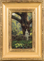 Joseph McGurl (American, b. 1958)      Field Study: Garden Statue