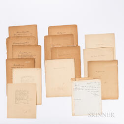 Approximately Sixty Early 20th Century Signed Cards and Letters from Members of Congress and State Politicians