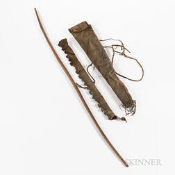 Plains Hide Bowcase and Quiver, with Bow