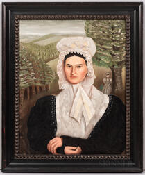 American School, 19th Century      Portrait of Two Women