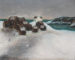 Attributed to Niles Spencer (American, 1893-1952)      Feather-Bed Lane - Ogunquit