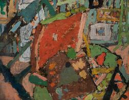 Jean Albert Pougny [Ivan Albertovich Puni] (Russian/French, 1894-1956)      The Artist's Studio