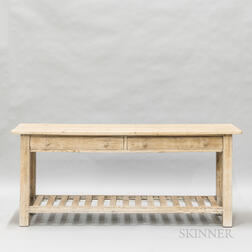 White Painted Pine Console Table