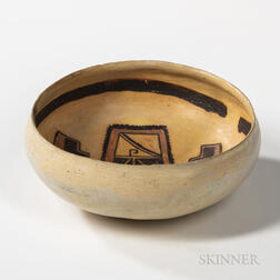 Hopi Polychrome Pottery Bowl