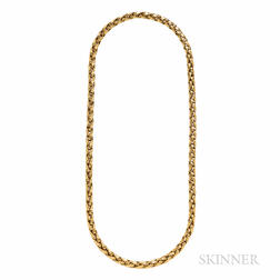 Tiffany & Co. 18kt Gold Rope Chain Necklace