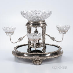 English Regency Silver-plated Plateau and Epergne