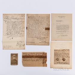 Five European Military Documents.